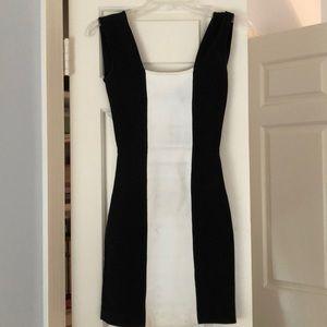 BCBGMAXAZARIA Black and White Bodycon Dress